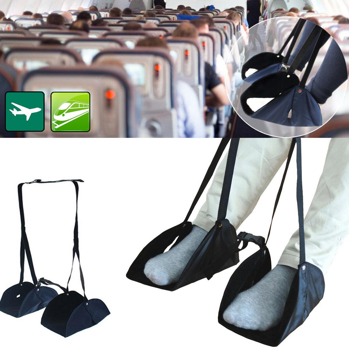 IPRee ™ Portable Travel Airplane Foot Pad Almofada de trem ajustável Estar descansar Hamac