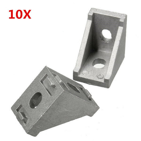 Suleve™ AJ28 10Pcs 2028 Aluminium Angle Corner Joint 20 Series Aluminum Extrusion 20x20mm Right Angle Bracket Furniture Fittings