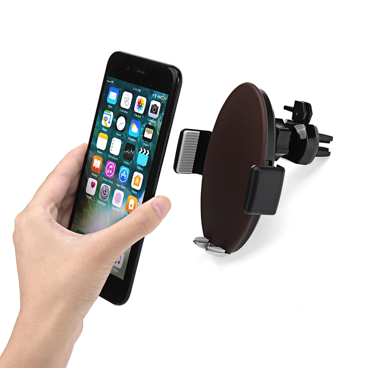 Qi Car Air Vent Fast Wireless Charger Phone Holder Touch Automatic Mount for iPhone X