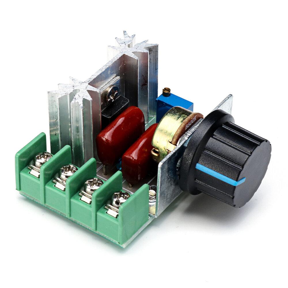 2000W 50-220V 25A PWM Motorsnelheidregelaar voor elektrische kachelverlichting Dimmer