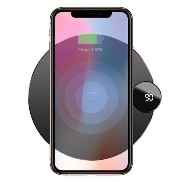 Baseus LCD Affichage numérique 10W 7.5W Qi Chargeur sans fil pour chargeur de charge pour iPhone XS MAX XR S9 Note 9
