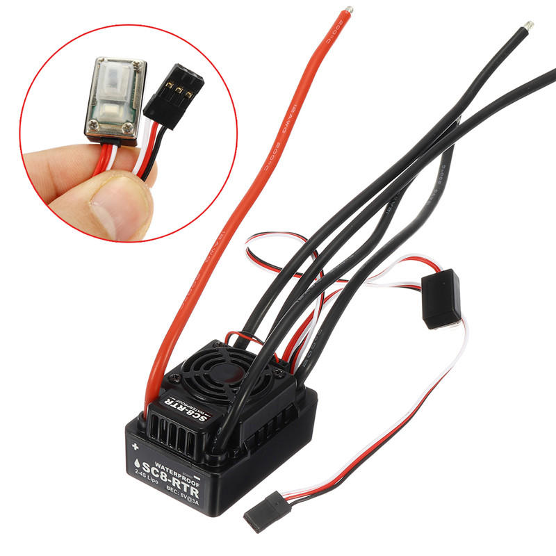 EZRUN WP SC8 RTR 120A Waterproof Speed Controller Brushless ESC For RC Car Truck Parts