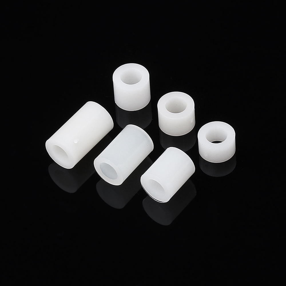 100 Pcs M4 Branco Nylon ABS Não-Threaded Spacer Arredondado Oco Posicionamento Para A Placa de PC Parafuso Parafuso