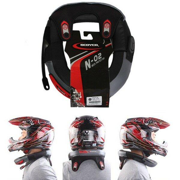 Collier Protège-cou Long Distance Casque de course Protection Protège-Protecteur