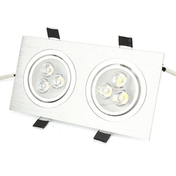 6W / 10W / 14W / 18W / 24W / 30W / 36W de cabeça dupla Sliver LED Teto embutido Light Down Light 85-260V