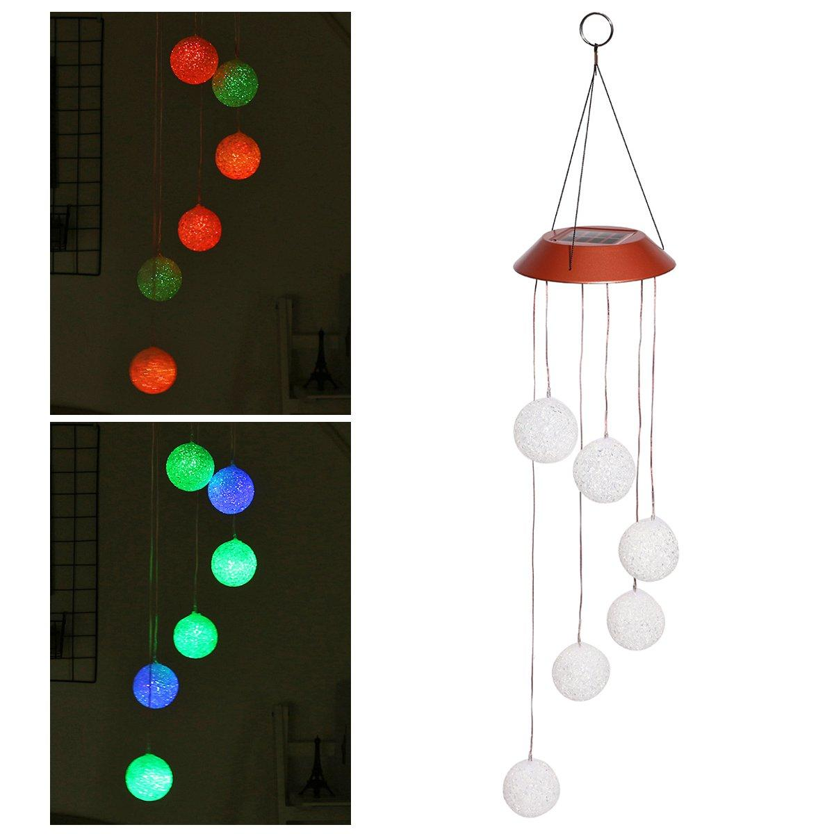 solare Energiaed Color Change LED Campanelli eolici Light Home Garden Home Decoration
