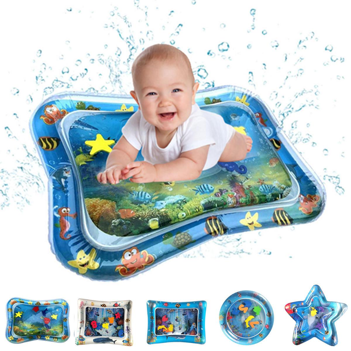 Pvcインフレータブル水泳エアマットレスウォータークッション赤ちゃん子供幼児幼児おなか水遊び楽しいおもちゃアイスマットパッド