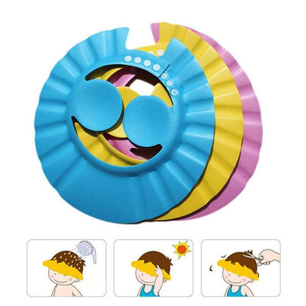 Vvcare BC-AR86 Shampooing pour enfant Douchette en caoutchouc de bain Protect Ear Soft Caps Rubber réglable