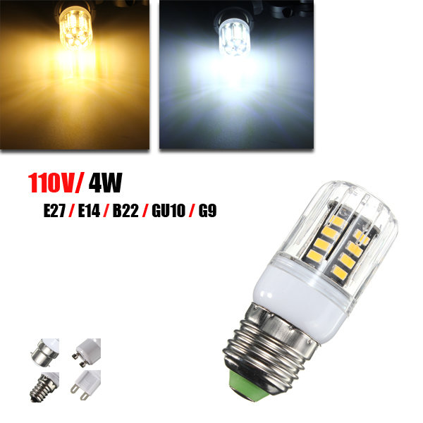 G9 E14 E27 B22 GU10 4W 30 SMD 5733 LED Cover Corn Light Lamp Bulb AC 110V