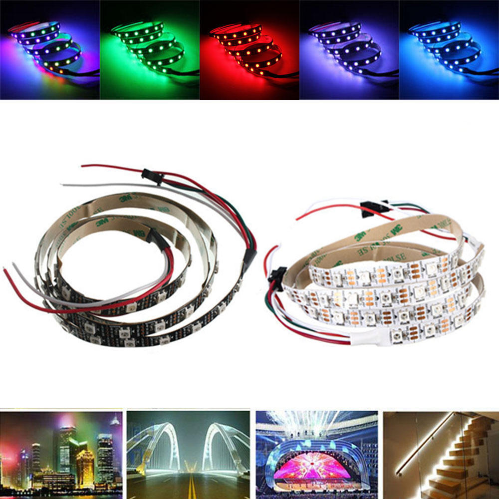 1M WS2812 IC SMD5050 Étanche Dream Color RGB LED Lampe de bande lumineuse individuelle adressable DC5V