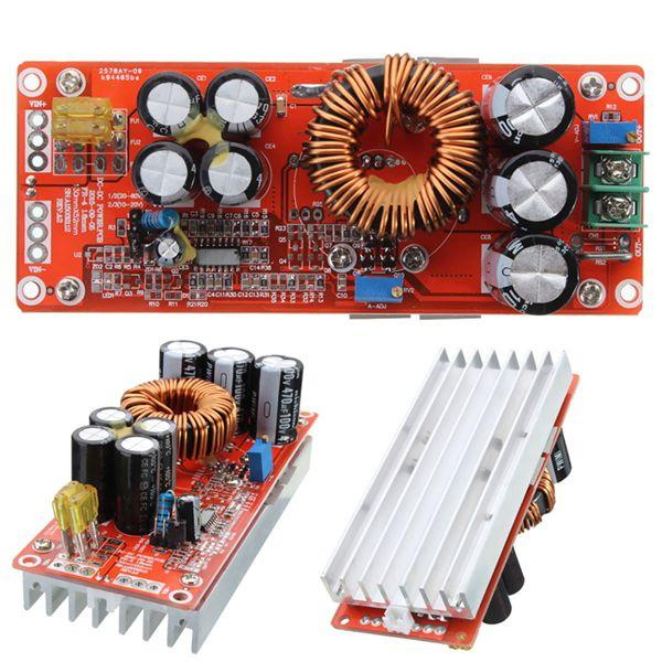 1200W 20A DC Converter Boost Step Up Power Supply Module Input 10-60V Output 12-83V