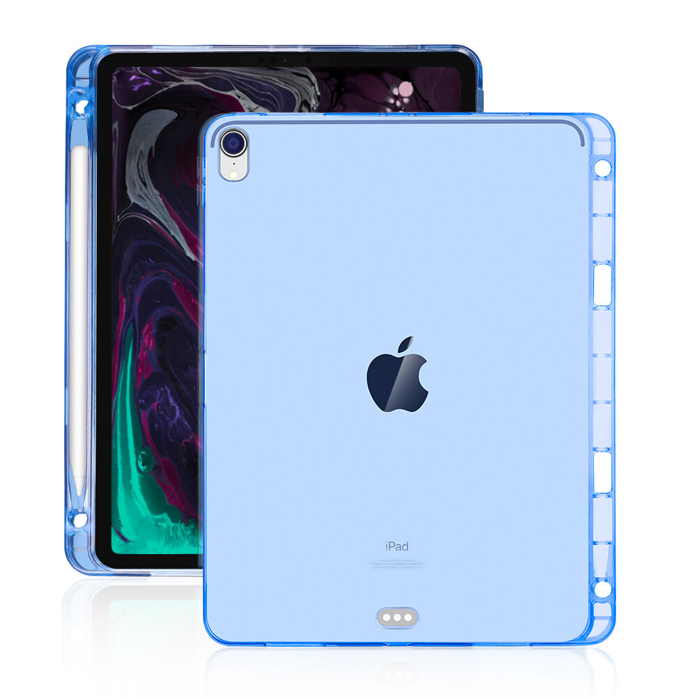 Bakeey Clear Shockproof Tablet Case With Pencil Holder For iPad Pro 11 Inch 2018