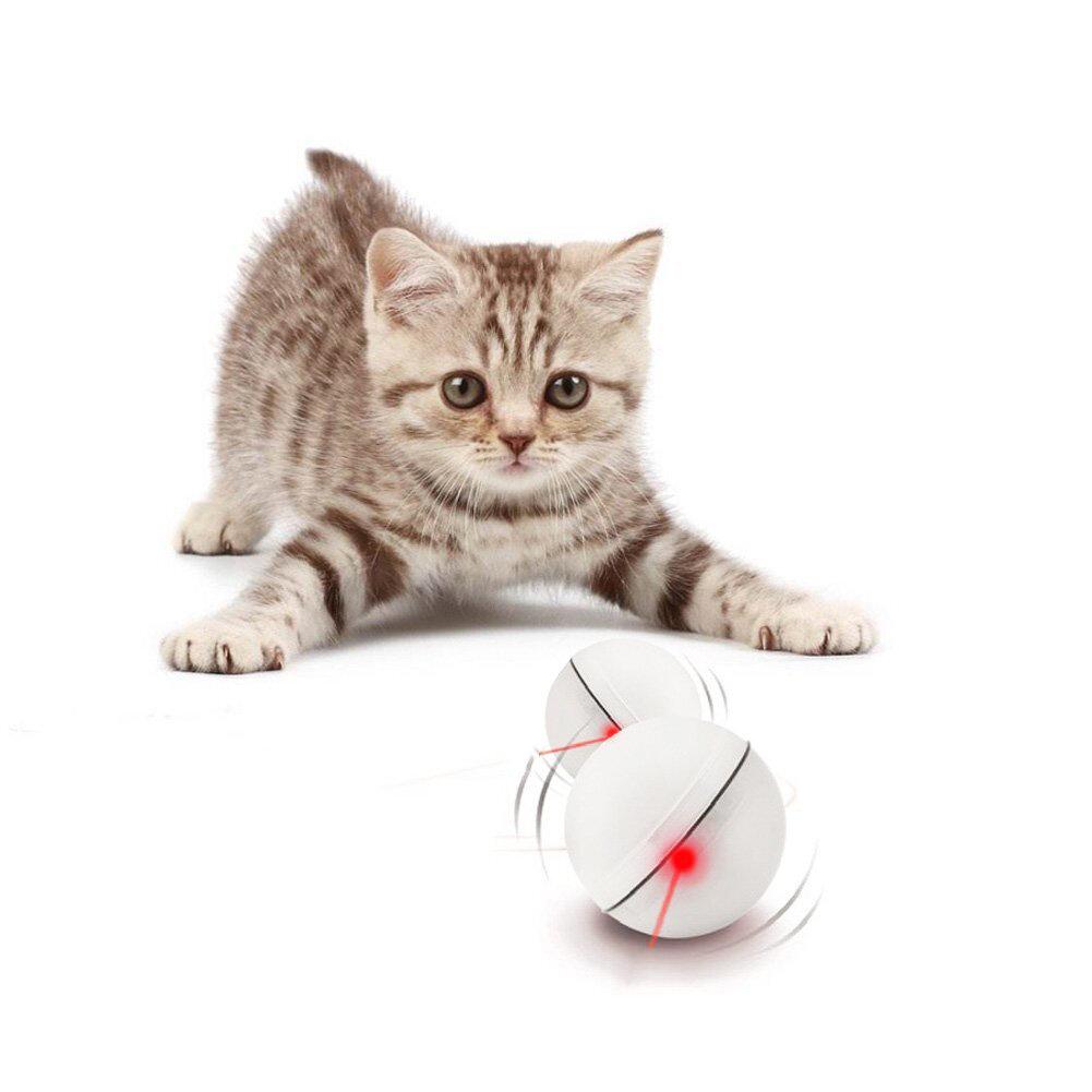 Loskii PT-15 Elettronico 360 gradi auto sfera rotante palla automatica luce a led giocattoli per gatti