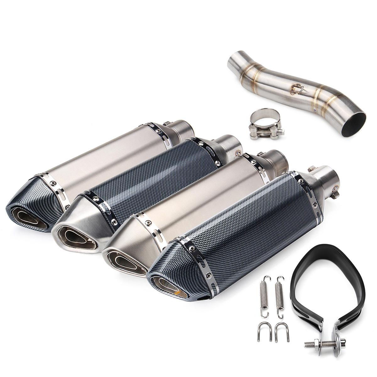 51mm Egzoz Susturucu Boru Kayış Bağlantı Orta Borusu Honda CBR300R CB300F Için