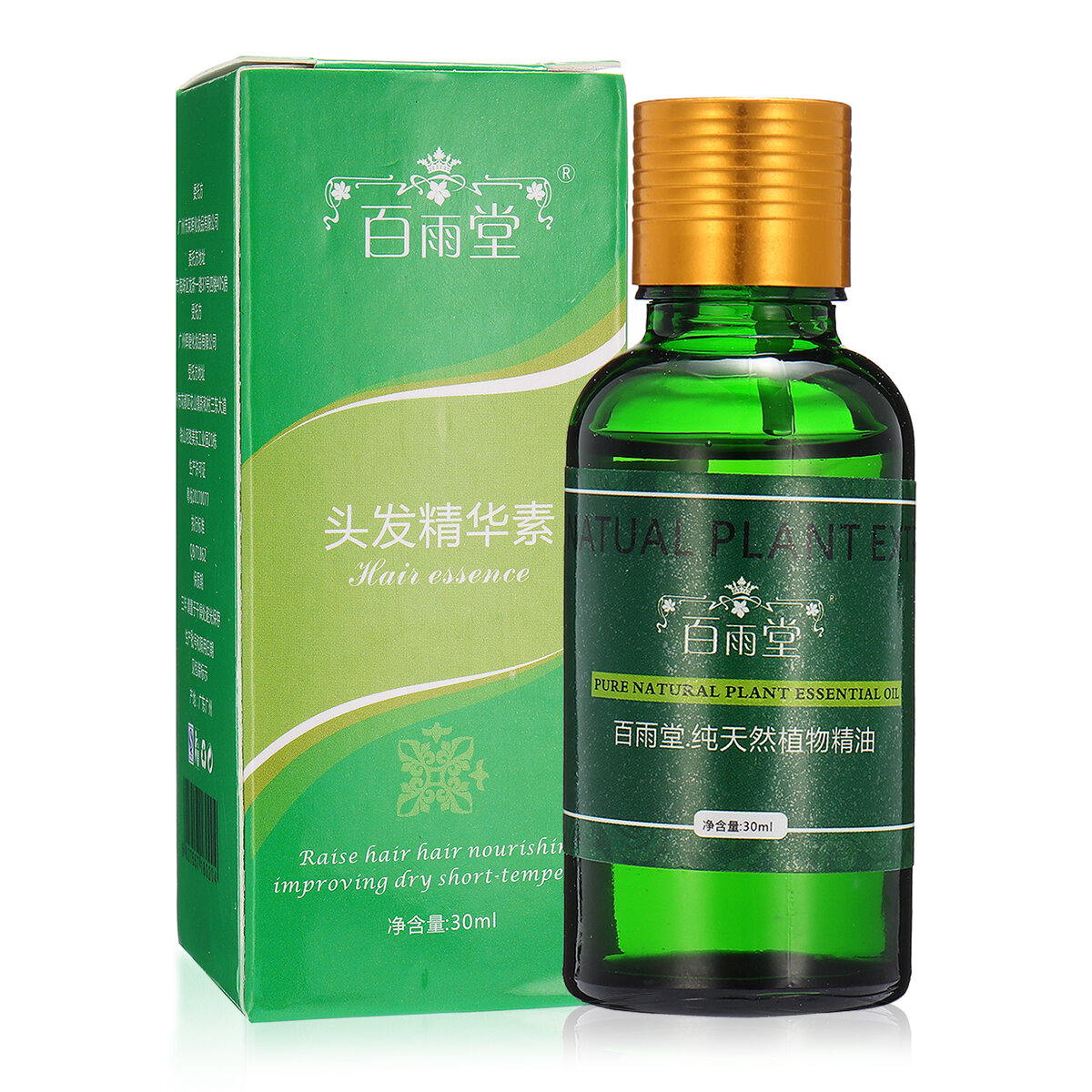 Natural Plant Extract Hair Care Essence Essential Oil Liquid Ginseng Ginger Herbal Pure 30ml