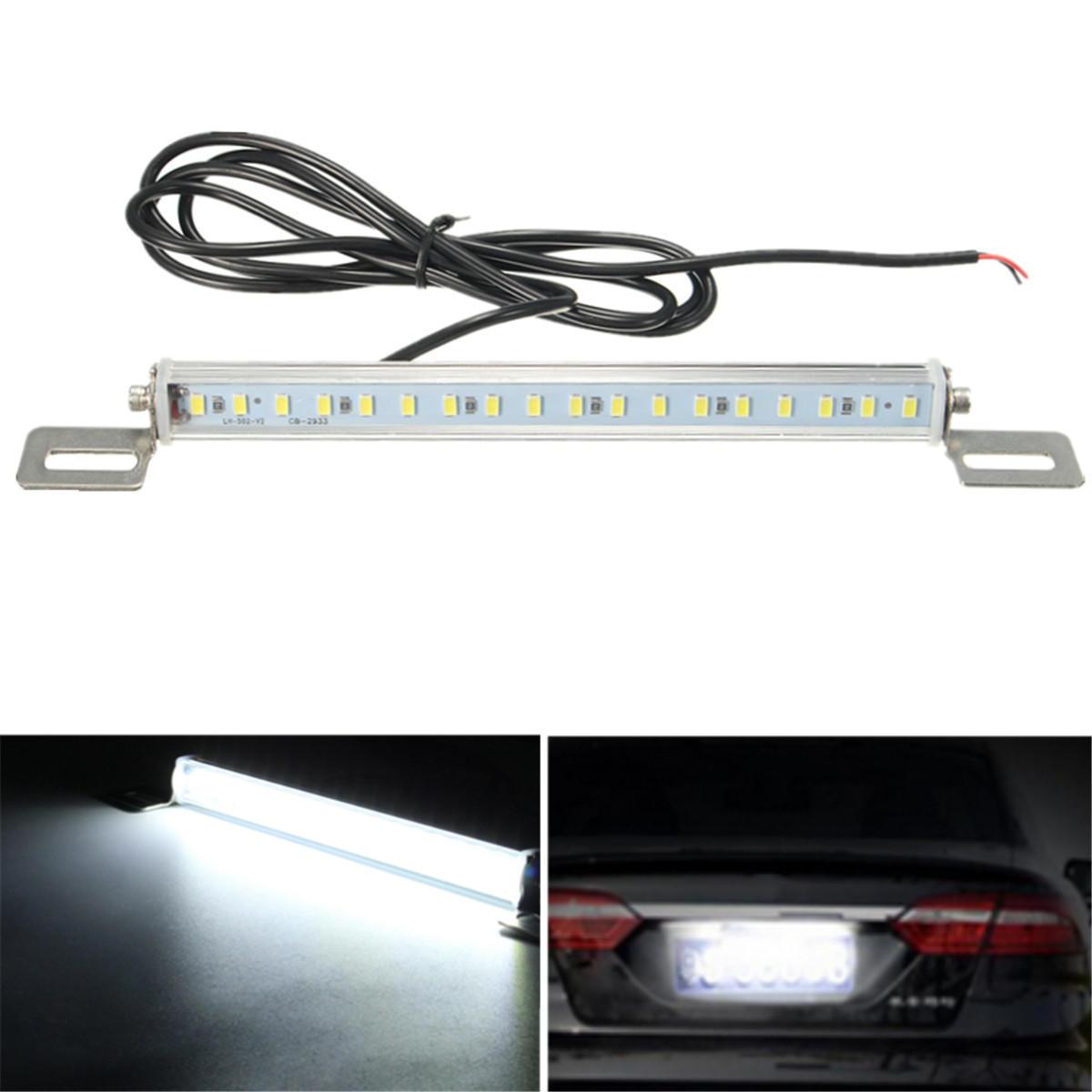 Evrensel Araba 12V 18 SMD 5730 LED Lisans Kap Açık Beyaz Geri Döndürme
