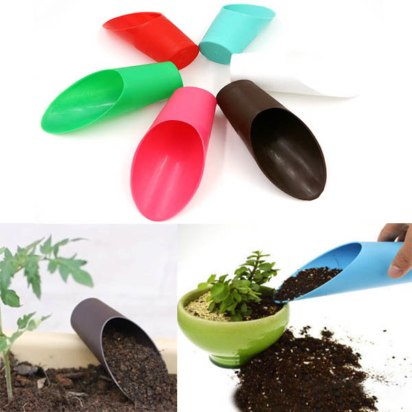 Plastic Mini Bucket Shovel Garden Potted Plant Succulent Planting Tools
