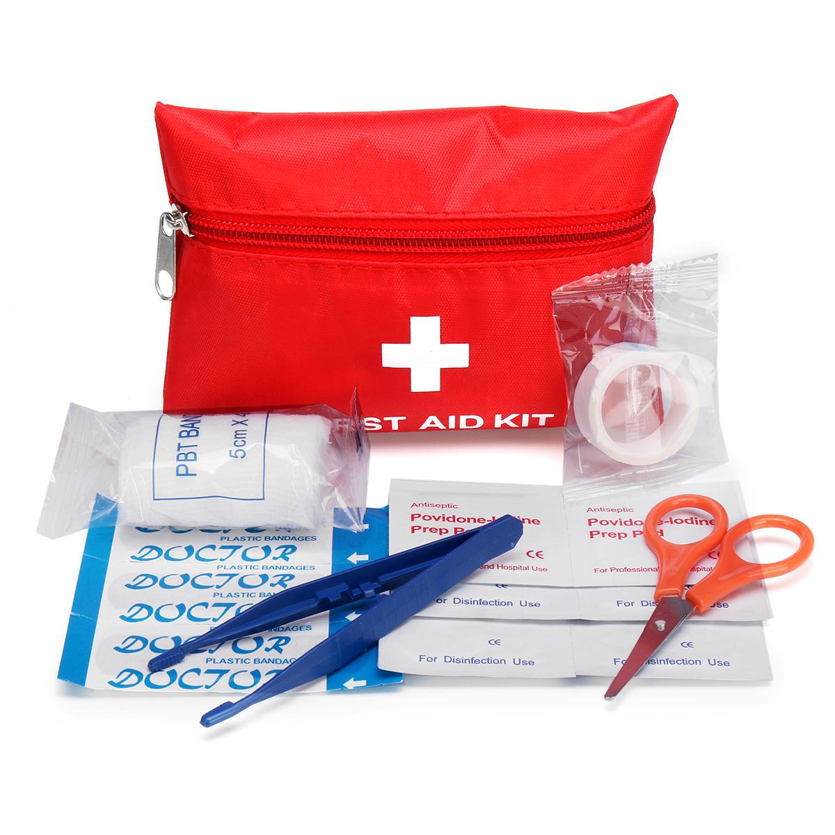 8Pcs Kit di primo soccorso portatile Car Emergency Travel Borsa