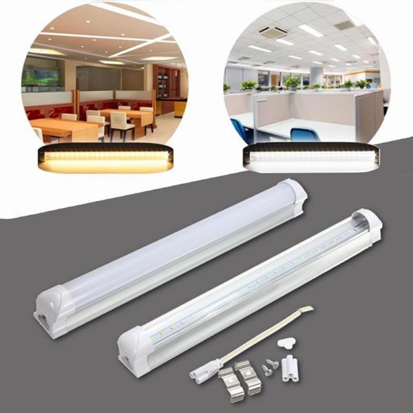 T5 30 см 4,8 Вт 24 LED SMD 2835 Трубка Лампа Флуоресцентный свет AC175-265