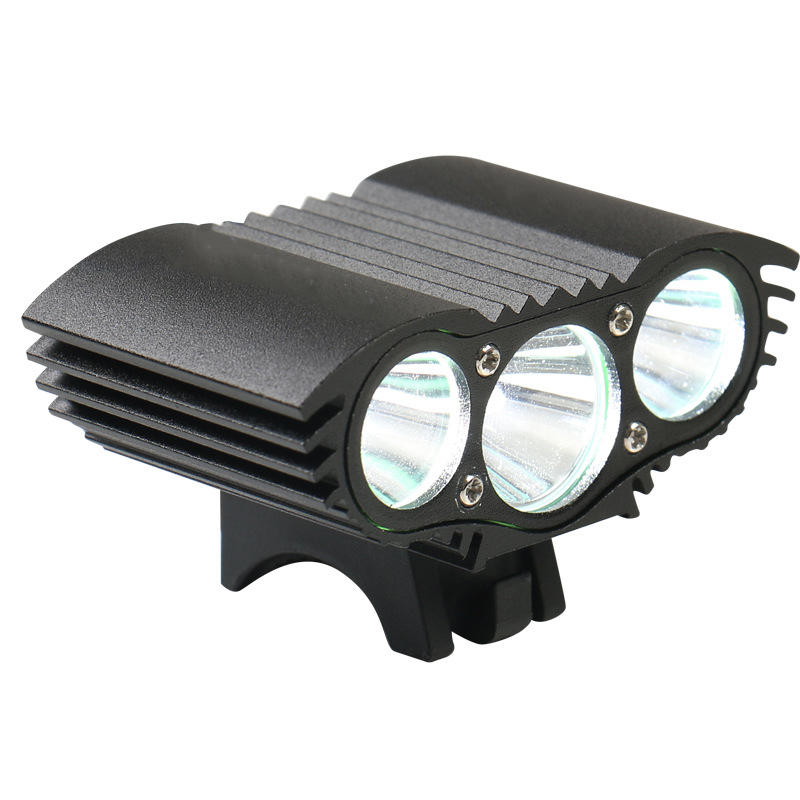 XANES ML05 2700LM 3xT6 LED 4-Mode IPX6 Waterproof Bicycle Head Light Temperature Control Power Display No Battery