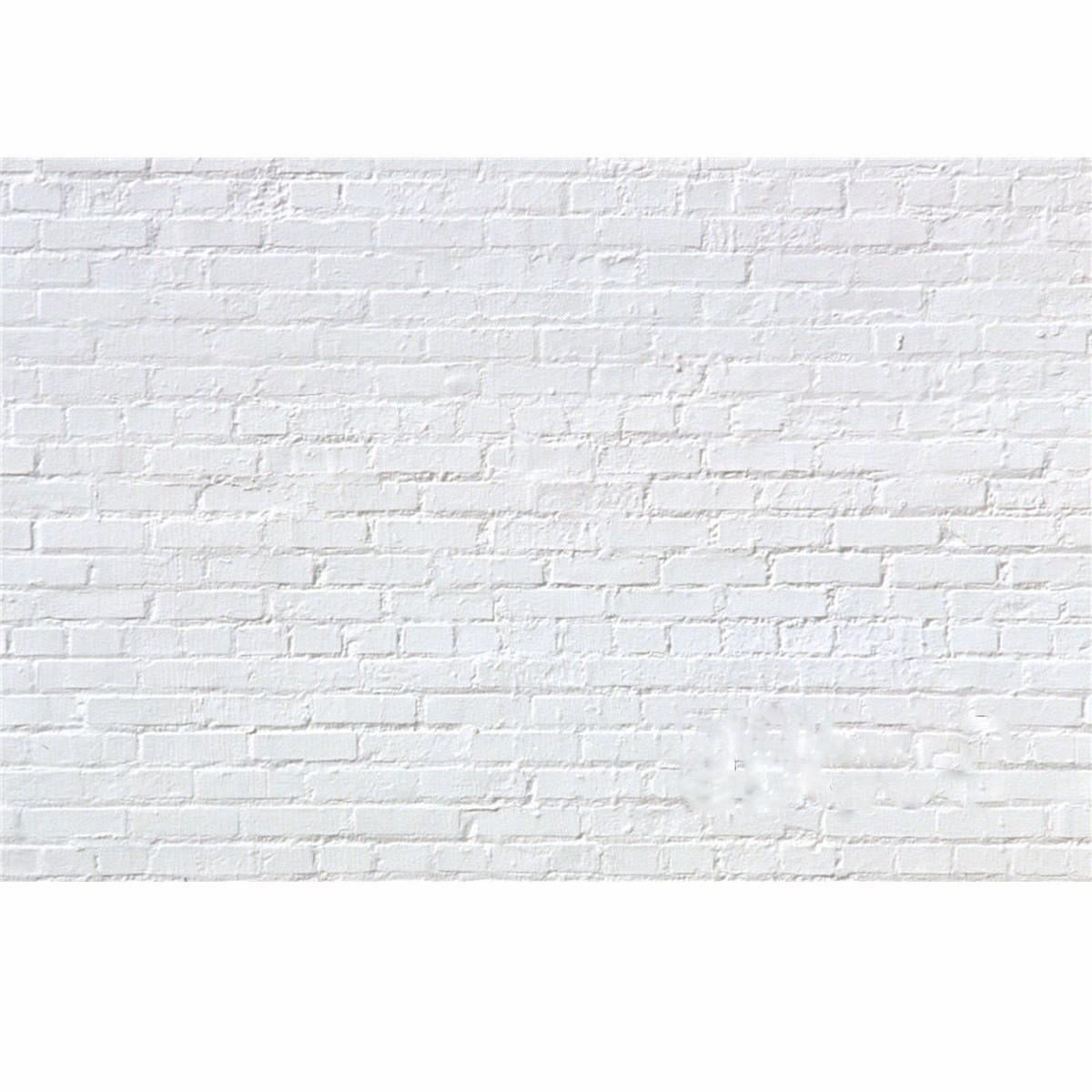 7x5FT Vinyl White Brick Wall Photography Background Backdrop Studio Photo Props