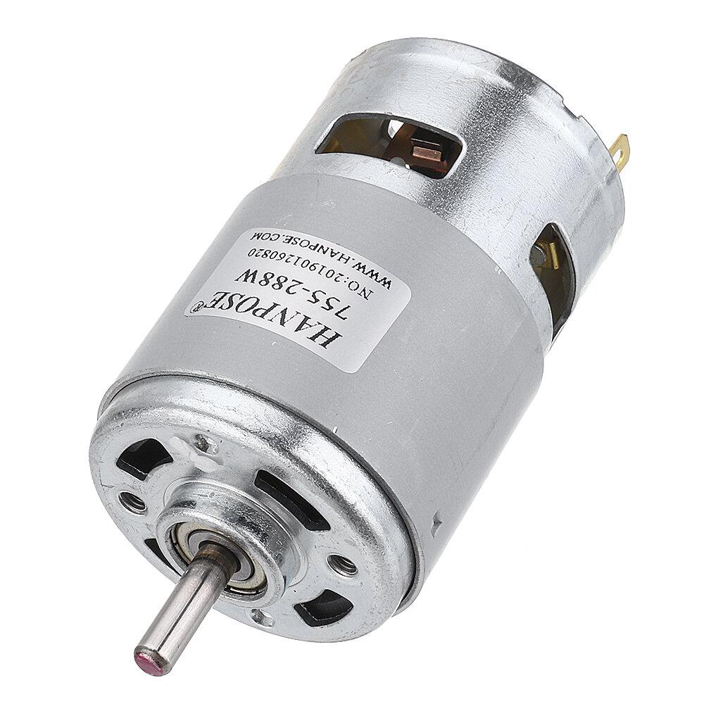 HANPOSE 775 Motor DC 12 V 24 V 80 W 150 W 288 W DC Motor Grande Torque de Alta Potência DC Motor Duplo Rolamento de Esfera Do Fuso Do Motor