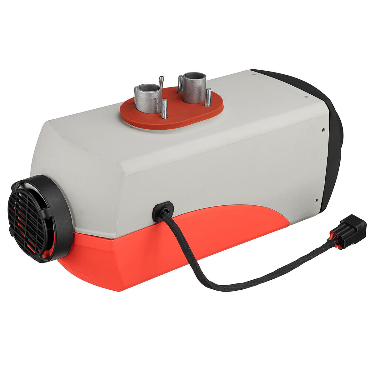 12V 8KW Gray Bottom Red Cover Blue LCD Version Car Heater With Remote Control