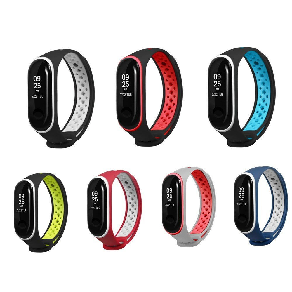 Bakeey Double Color Silicone Watch Strap Replacement Smart Watch for Xiaomi Mi Band 3