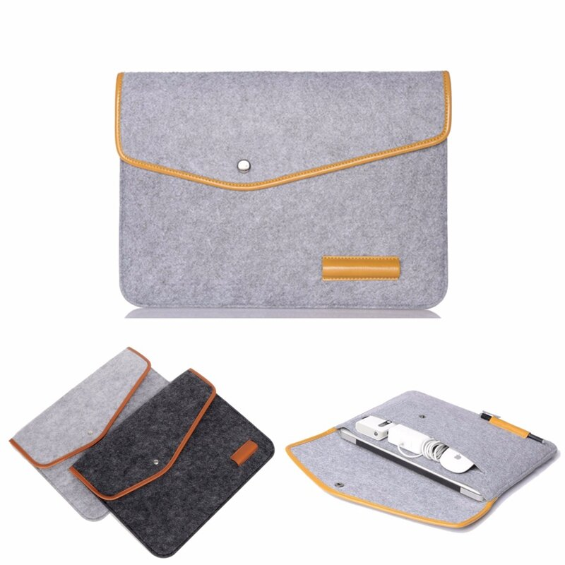 """15 Inch Wool Leather laptop Sleeve Bag For Laptop Macbook Pro/Air 15"""""""
