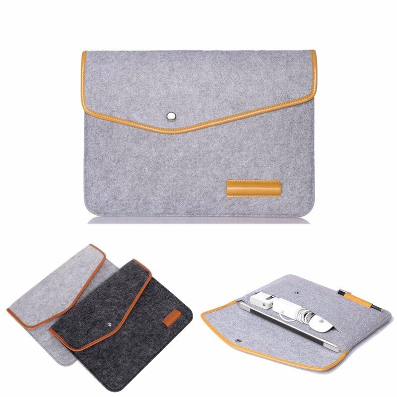 "15-calowa torebka na laptopa ze skóry z wełny na laptopa Macbook Pro / Air 15 """