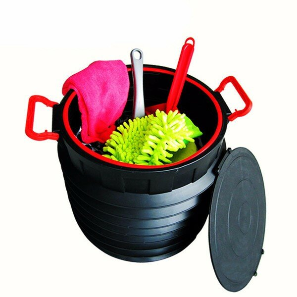 25L Car Storage Box Circular Folding Teleskop Lagerung Eimer Trash Container Scalable Toolbox Col