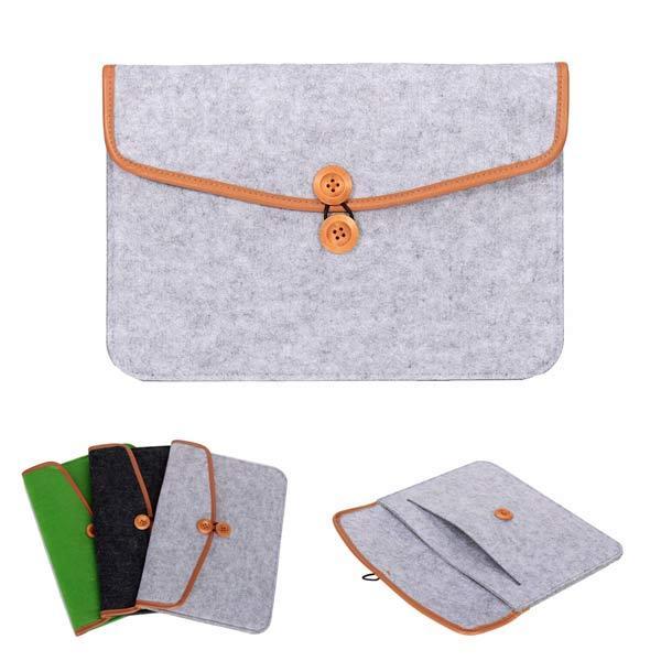 Feutre de laine sac housse d'ordinateur portable ordinateur portable cas pour 12 comprimés pouces
