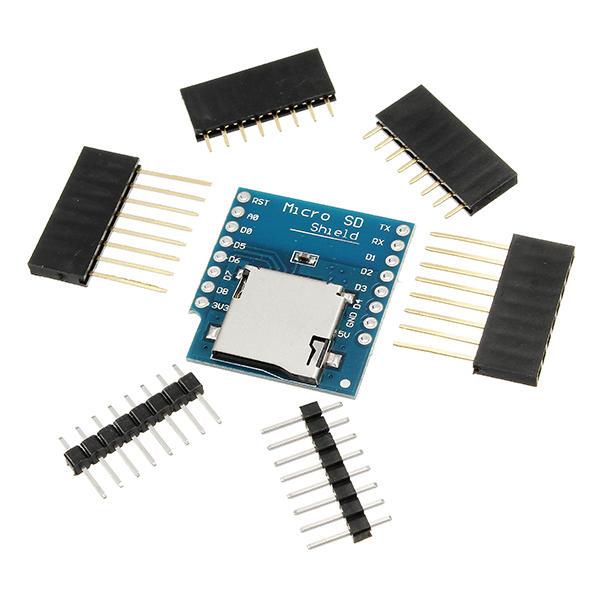3Pcs Micro SD Card Shield para D1 Mini TF WiFi ESP8266 SD Módulo inalámbrico Geekcreit para Arduino - productos que funcionan con placas oficiales Arduino