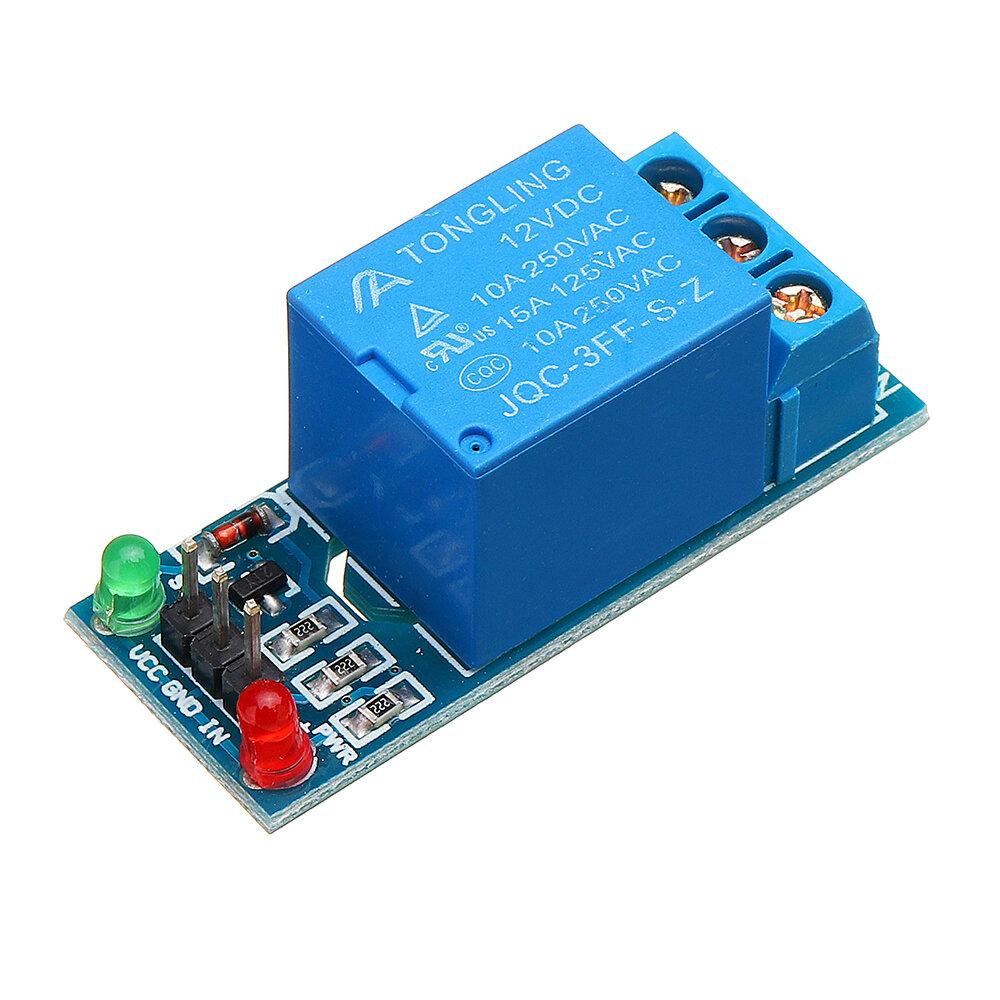 1 Channel 12V Relay Module with Optocoupler Isolation Relay High Level Trigger For Arduino