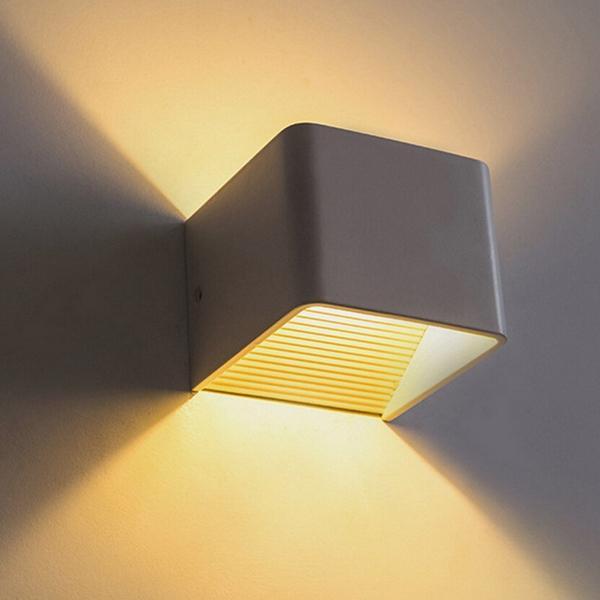 Modern 5W LED Cube Indoor Wandleuchte Aluminium Up & Down Leuchter Lampe AC180-280V