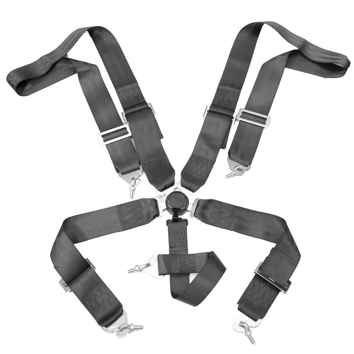 rencontrer 8dc14 191d0 5 points de sécurité de la course de la ceinture de sécurité de voiture de  course de verrouillage à came sangle réglable en nylon harnais