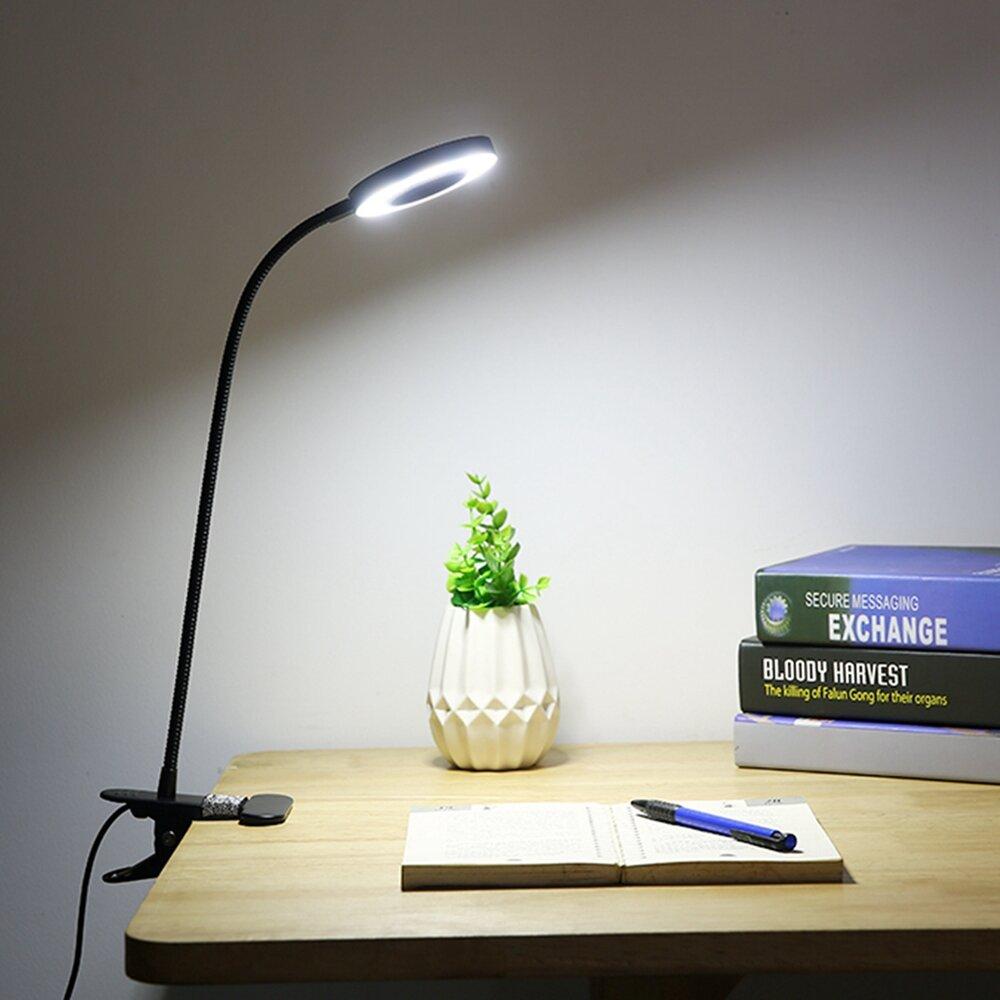 الإبداعية 7W LED USB عكس الضوء كليب على العمل القراءة ضوء مكتب رعاية العين مصباح طاولة