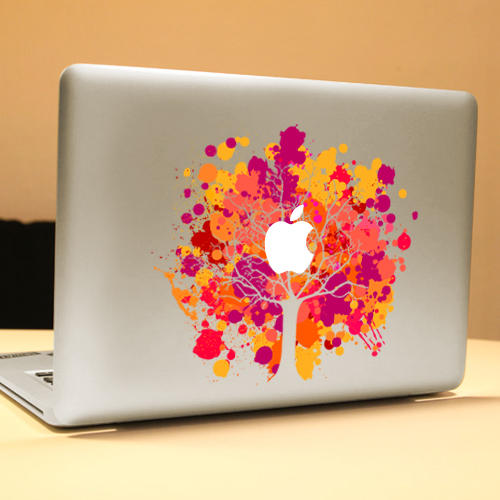 PAG Phoenix Tree Leaf Decorative Laptop Decal Removable Bubble Free Self-adhesive Skin Sticker