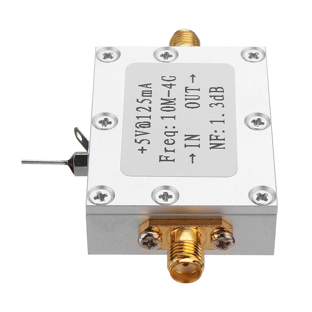 0.01-4GHZ Wideband Amplification LNA Ultra-low noise NF =21dB Amplifier