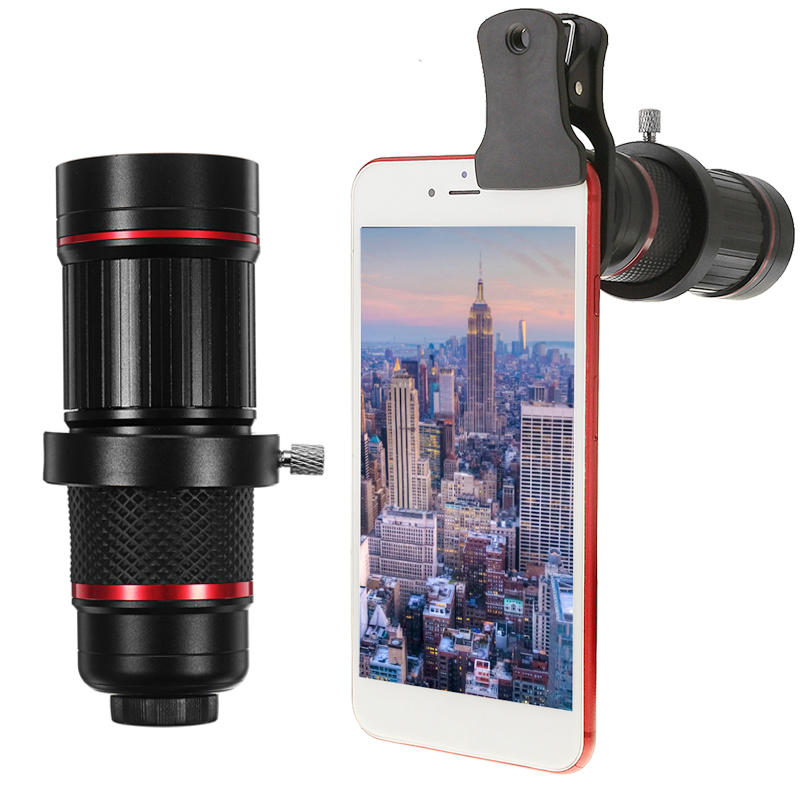 18X Universal Phone Camera Lens Telephoto Telescope Aluminium Monocular With Clip