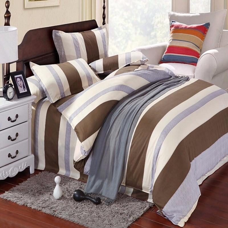 3 ou 4pcs conjuntos de cama tarja mistura de algodão de impressão pintura queen size completa duplo