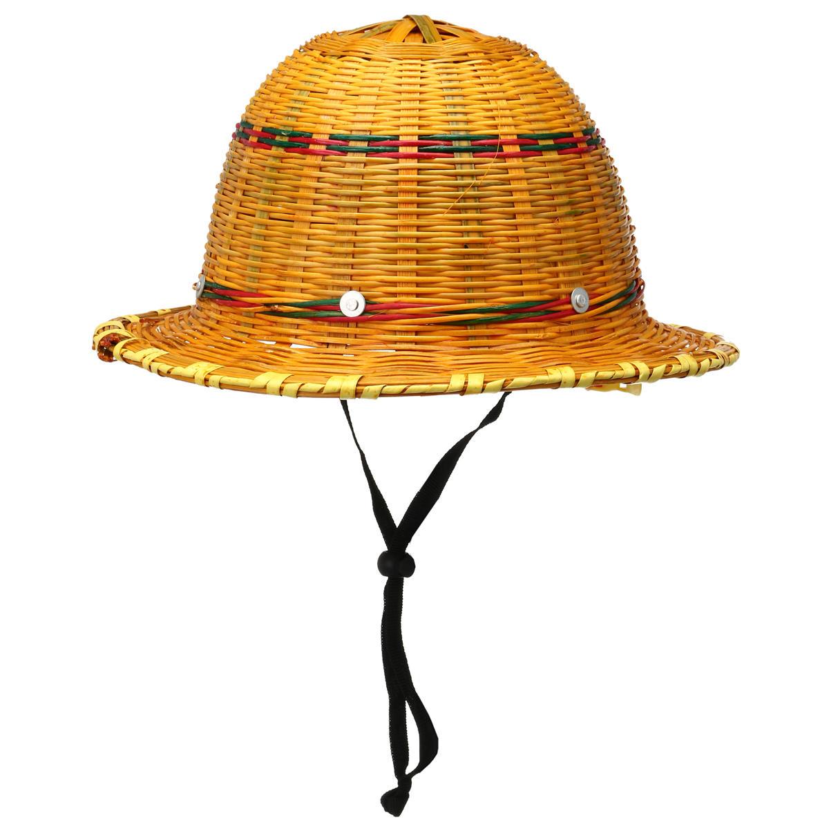 خوذة السلامة، الخيزران، القبعة، الصيف، بناء عمارة، العامل، مشى، القبعة الواقية من الشمس