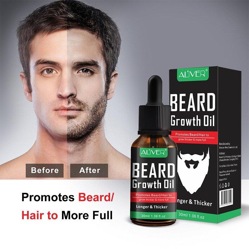 Entretien essentiel de cheveux de barbe de l'huile essentielle 30ml d'entretien de croissance de barbe d'entretien de barbe d'hommes