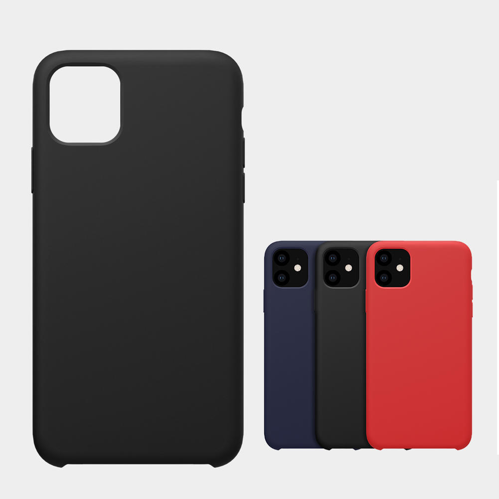 NILLKIN Smooth Shockproof Soft Liquid Silicone Rubber Back Cover Protective Case for iPhone 11 6.1 inch