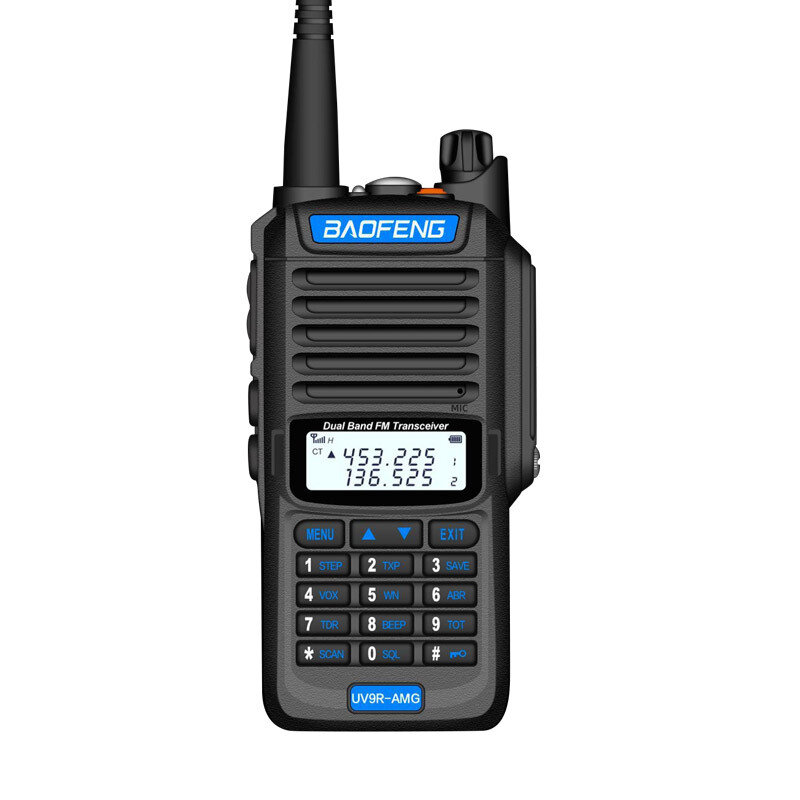 BAOFENG UV9R-AMG 15W IP68 Waterproof UV Dual Band Two Way Handheld Radio Walkie Talkie 400-470MHz 128 Channels Sea Land Hotel Civilian Intercom
