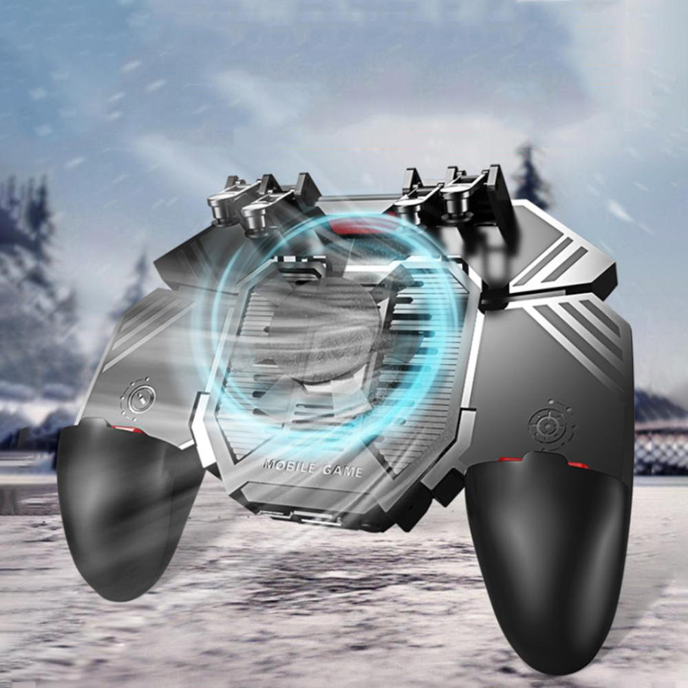 Bakeey AK77 Wireless Gaming Controller Joystick Large Capacity Gamepad With Cooling Fan For iPhone 8 Plus XS 11 Pro Huawei P30 Pro Mate 20 X Mate 30 S10+ Note