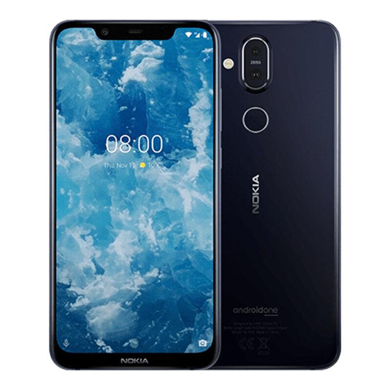 Nokia 8.1 Global Version 6,18 polegadas FHD + Pure Display NFC Android 10 3500mAh 20MP Câmera frontal 6GB RAM 128GB ROM Snapdragon 710 Octa Core 4G Smartphone