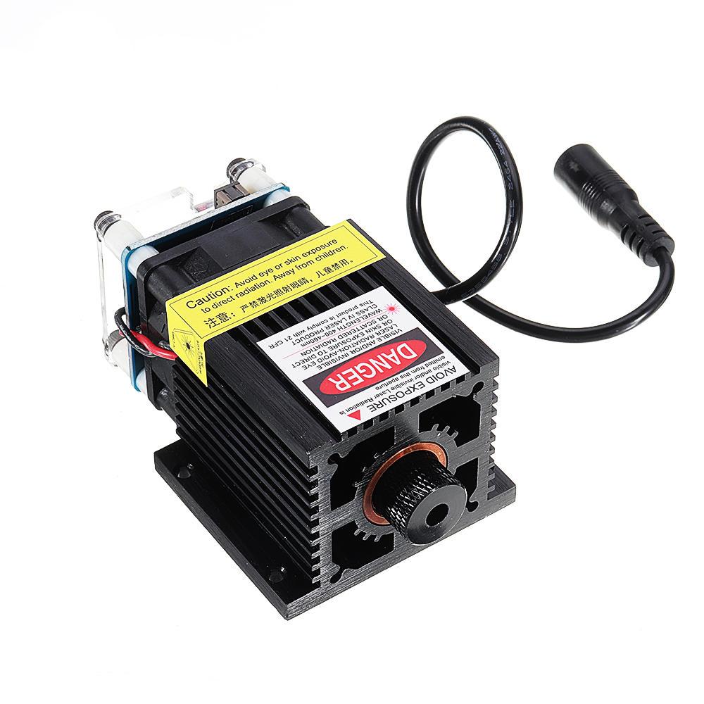 EleksMaker® LA03-5500 445nm 5500mW Laser Module Bleu avec Dissipateur de Chaleur pour DIY Machine de Graveur de Laser