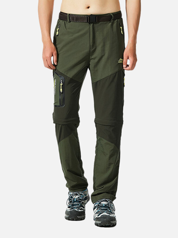 Mens Outdoor Detachable Fast Drying Waterproof Breathable Climbing Pants
