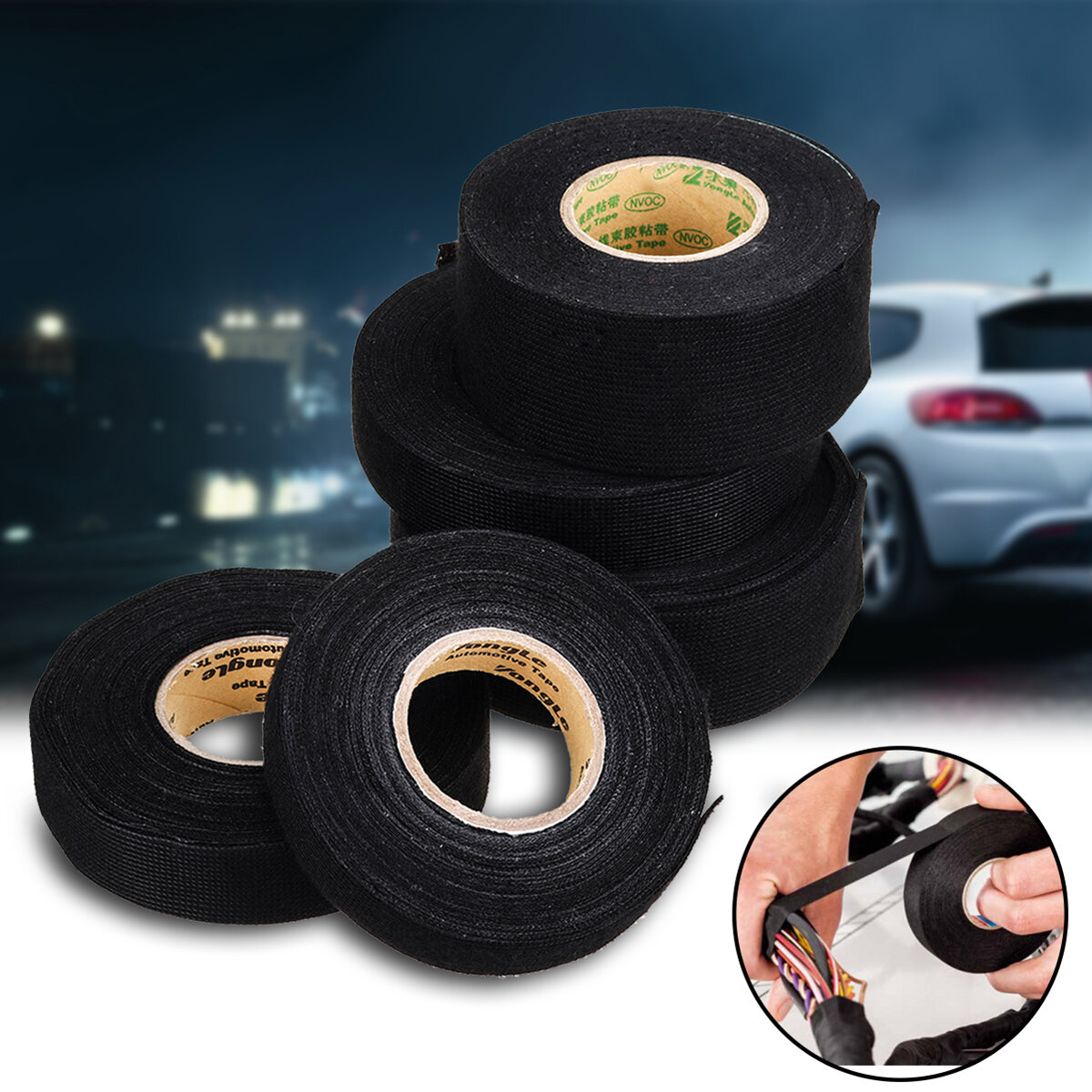 Cloth Tape Wire Electrical Wiring Harness Car Auto Suv Truck Flame Retardant Flannel Tape